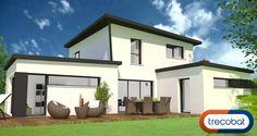 Cet avant-projet de notre dessinateur Cyril vous propose une maison Trecobat toute en ouvertures. Les fenêtres et baies vitrées jouent un rôle essentiel dans la vie de cette maison !