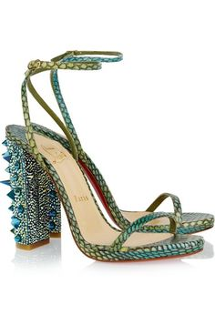 Palace 120 Swarovski crystal-embellished snake sandals by Christian Louboutin