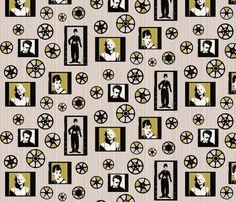 Retro movie reels fabric by fantazya on Spoonflower - custom fabric  I love this one!!!