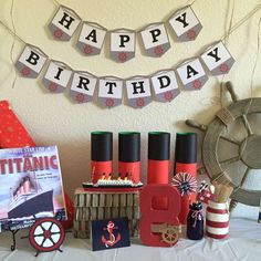 Titanic Birthday Party Ideas | Photo 1 of 14 | Catch My Party