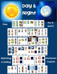 Free Day and Night Sorting Cards + DIY Nighttime Box by Carolyn from Wise Owl…