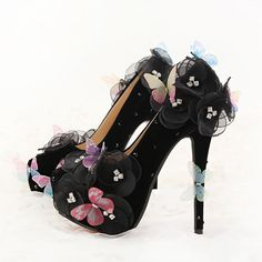 Black butterfly flowers, bridal shoes, stiletto heels, wedding dresses, shoes, wedding shoes, lady shoe for party christmas day #Stiletto heels http://www.ku-ki-shop.com/shop/stiletto-heels/black-butterfly-flowers-bridal-shoes-stiletto-heels-wedding-dresses-shoes-wedding-shoes-lady-shoe-for-party-christmas-day/