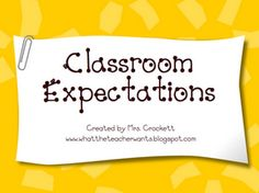 Classroom Management Expectations PPT- can be adapted to any classroom