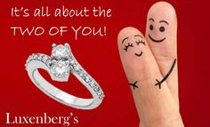 Show her she means the world to you! This great diamond duo ring says it all. .50tdw Now $1550.00 Luxenberg's...We want to be your Jeweler! www.luxenbergs.com