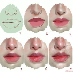 nose mouth skin coloring digital painting