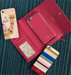 Your favorite side-kick should be just as stylish as you. Vivid colors with hints of sparkle, Kate Spade phone cases is the pop of color your favorite accessory needs.