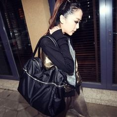 stacy bag good quality women fashion brief nylon big bag female large capacity single shoulder bag ladies shopping bags totes $16.00