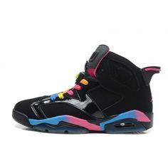 new arrival ed342 3017e cheap air jordan 6 mens retro black pink flash marina blue online shop