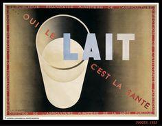 Oui le lait c'est la santé - ministère de l'agriculture - ministère de la santé publique - illustration de Cassandre - 1933