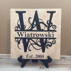 Personalized Tiles Established Sign Wedding Gifts Last Name Wedding Gifts For Couples, Personalized Wedding Gifts, Gift Wedding, Wedding Shower Gifts, Wedding Ideas, Wedding Planning, Personalized Items, Grandpa Gifts, Gifts For Dad