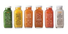 Snap Recovery juice lineup (cold-pressed juice)