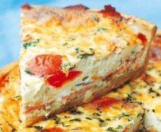 Quiche de tomate Mousse Au Chocolat Torte, French Food, Empanadas, Bon Appetit, Pizza, Entrees, Brunch, Quiches, Omelettes