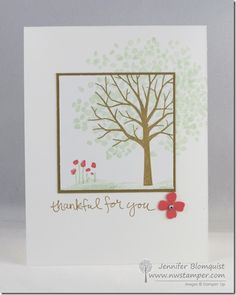 Simple Spotlight Card with Sheltering Tree   Northwest Stamper