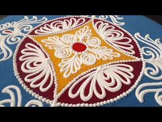 Embroidery designs flowers hand done colour 61 trendy ideas Easy Rangoli Designs Diwali, Indian Rangoli Designs, Rangoli Designs Latest, Simple Rangoli Designs Images, Rangoli Designs Flower, Free Hand Rangoli Design, Rangoli Patterns, Small Rangoli Design, Rangoli Border Designs