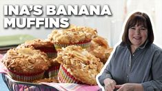 To make Ina's banana muffins crunchy on top, top them with dried banana chips, granola, or and coconut! Ina Garten Banana Bread, Keto Banana Bread, Cereal Recipes, Muffin Recipes, Brunch Recipes, Top Recipes, Brunch Ideas, Coconut Muffins, Banana Nut Muffins