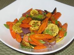 Roasted Garden Vegetable Medley ~ I would put this in a pie plate tin, cover with tin foil and cook it right on the grill !!!!!
