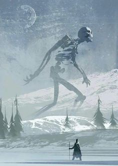 I think it's time for a new phone background Photos) Undead Giant concept art by Christian Bravery aka The Brave. Guessing this is what the giant skeletons in icecrown look like. Dark Fantasy, Sci Fi Fantasy, Fantasy World, Digital Art Illustration, Illustration Manga, Arte Horror, Fantasy Kunst, Sci Fi Art, Fantasy Creatures