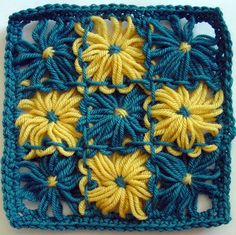 Flower Looms: Weave Stitch for Joining Square Flowers. This looks to be so much fun!