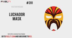 Today's freebie is a luchador mask. Feel free to use it in commercial and non-commercial projects, personal websites and printed work, as long as it's a part of a larger design.