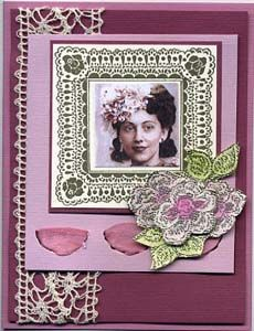 Lace Frame Card & DIY Directions from GreatImpressionsStamps.com