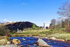 Glendalough by volkankursunmp  landscape river mountain stream ruins ruin monastry Ireland Wicklow Glendalough volkankursunmp