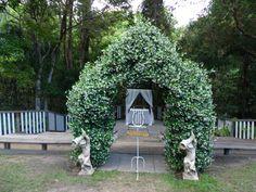 The ceremony area at Eco Studio Fellini Brisbane Celebrant Neal Foster The Marriage Celebrant performs weddings here.
