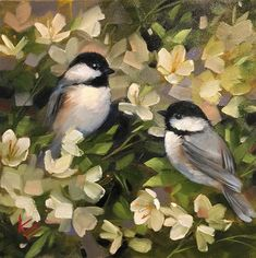 Krista Eaton Gallery of Original Fine Art Bird Painting Acrylic, Watercolor Paintings, Bird Artwork, Bird Pictures, Painting Techniques, Beautiful Birds, Flower Art, Images, Canvas Art