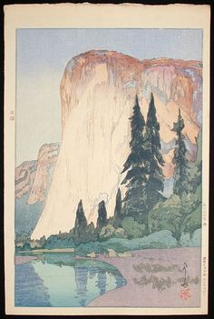 Gallery Sobi Pallas/Shin-hanga No.431 Yoshida, Hiroshi / El Capitan, Yosemite