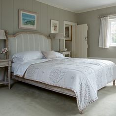 Beautiful bespoke hand-made bed with upholstered bedhead and footboard is made in superior hardwood available to order in any fabric of your choice. Furniture, Guest Bedrooms, Bedroom Interior, Hardwood Bed, Dreamy Bedrooms, Bed, Upholstered Bedhead, Interior Design, Upholstered Beds