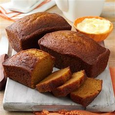 Delicious Pumpkin Bread Recipe from Taste of Home