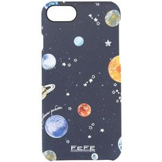 Fefè galaxy print iPhone 6 case ($16) ❤ liked on Polyvore featuring accessories, tech accessories, phone case and blue