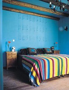 Sarape Bedding and wall color