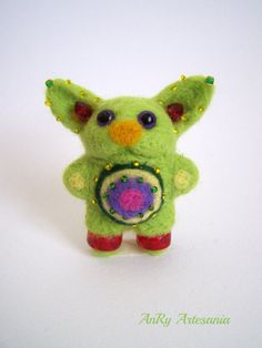 Needle Felted miniature Alieni small fantasy toy gift by ArteAnRy, €12.00