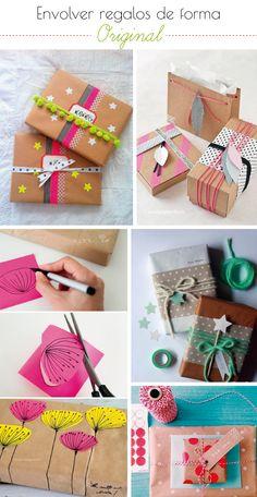 Make it yourself: // Navidad VII: Envolver regalos de forma original...