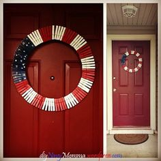 Fourth Of July Clothespin Wreath on a budget! With instructions!  This is a GREAT blog for misc. DIY!