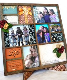 cute way to show off christmas card photos that weren't chosen for the actual card Christmas Photo Cards, Christmas Ideas, Scrapbook Blog, Craft Quotes, Love Craft, Crafts To Do, Craft Ideas, Decorating Ideas, Frames
