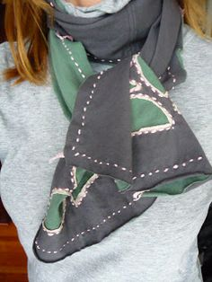 Joy Beadworks: Recylcled T-Shirt Scarf