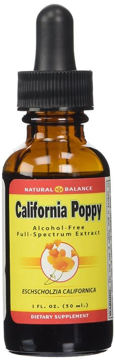 Natural Balance 500 mg California Poppy Extract, 1 Ounce ** Additional details at the pin image, click it  : Herbal Supplements