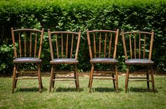 Brown vintage chairs - Look great with other chairs for a  mix-match vintage look.