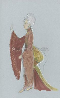 Original Drawings for Madame Morrible's outfit, by the Costumier Wicked Musical Broadway, Wicked Costumes, Rendering Techniques, Mode Costume, Ballet Costumes, Wicked Witch, Costume Design, Designs To Draw, Backstage