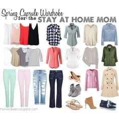Capsule Wardrobe for the SAHM by bethoverdeep on Polyvore featuring River Island, LE3NO, T By Alexander Wang, Patagonia, Lands' End, Max 'n Chester, STELLA McCARTNEY, BA&SH, Glamorous and Calypso St. Barth