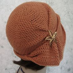 Crochet HAT PATTERN- Cloche With Side Gathers And Draped Brim PDF Resell finished - kalliedesigns
