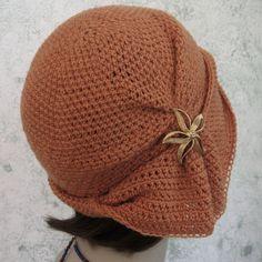 Crochet Hat Pattern Womens Cloche With Side by kalliedesigns