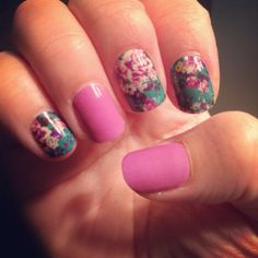 Jamberry Nails {Imperial and Orchid solid} http://www.nailfanatic.jamberrynails.net/