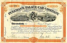 Pullman's Palace Car Company (March 1884)