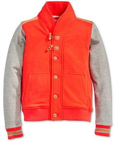 Sean John Boys' Colorblocked Shawl-Collar Varsity Jacket is a lightweight and sporty fall piece. This cozy and fashion forward jacket features a shawl for extra warmth.
