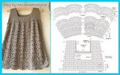 Fabulous Crochet a Little Black Crochet Dress Ideas. Georgeous Crochet a Little Black Crochet Dress Ideas. Mode Crochet, Crochet Tunic, Crochet Girls, Crochet Baby Clothes, Crochet Woman, Crochet For Kids, Crochet Dresses, Crochet Bebe, Crochet Tops
