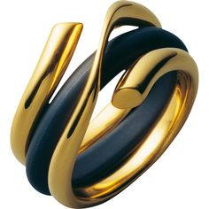 MAGIC ring - 18 kt. yellow gold and rubber - love the contrast!