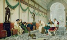 Interior of Roman Building with Figures By Ettore Forti - Famous Art - Handmade Oil Painting On Canvas — Canvas Paintings Oil Painting On Canvas, Canvas Art, Prince, Getty Museum, Art Sculpture, Italian Painters, Classical Art, Ancient Rome, 19th Century