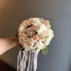 COMMUNION BOUQUET, Blush/White Bouquet, Flower Girl Bouquet, Throw Away Bouquet, Wedding Bouquet, Bridesmaid Bouquet, Blush Bouquet, White